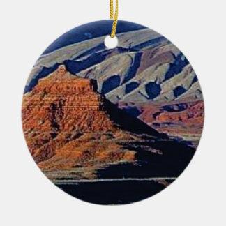 Ornement Rond En Céramique formes naturelles du désert