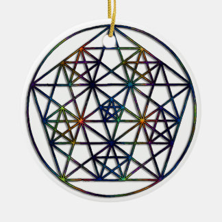 Ornement Rond En Céramique Fractale sacrée de la géométrie d'abondance de la