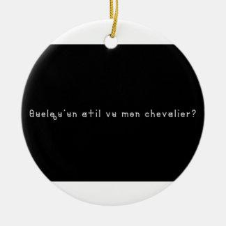 Ornement Rond En Céramique Français-Chevalier