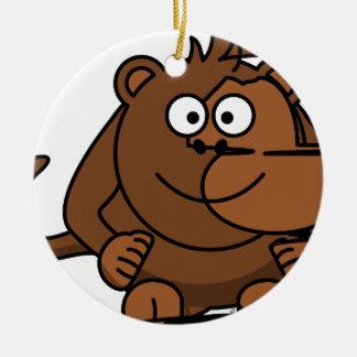 Ornement Rond En Céramique Funny Monkey / Drôle de singe