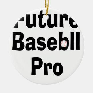 Ornement Rond En Céramique Futur base-ball pro