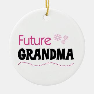 Ornement Rond En Céramique Futurs cadeaux de grand-maman