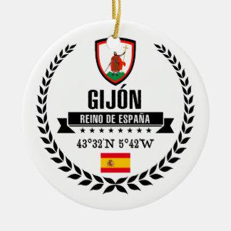 Ornement Rond En Céramique Gijón