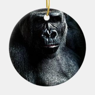 Ornement Rond En Céramique Gorille
