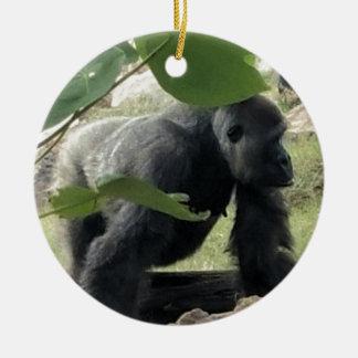 Ornement Rond En Céramique Gorille de Silverback