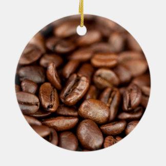 Ornement Rond En Céramique Grains de café rôtis