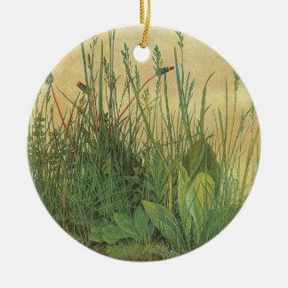 Ornement Rond En Céramique Grand morceau de gazon par Albrecht Durer, art
