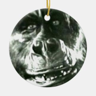 Ornement Rond En Céramique Grand visage de singe