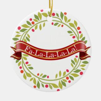Ornement Rond En Céramique Guirlande Tis de Noël la saison
