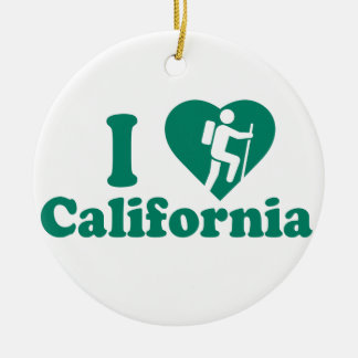 Ornement Rond En Céramique Hausse la Californie