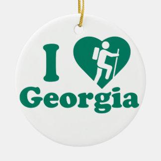 Ornement Rond En Céramique Hausse la Géorgie