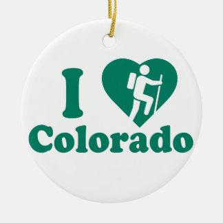 Ornement Rond En Céramique Hausse le Colorado