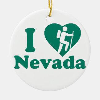 Ornement Rond En Céramique Hausse Nevada