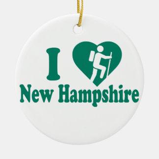 Ornement Rond En Céramique Hausse New Hampshire