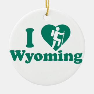Ornement Rond En Céramique Hausse Wyoming
