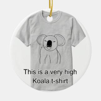 Ornement Rond En Céramique Haut tee - shirt de koala