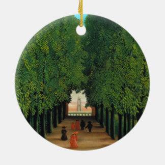 Ornement Rond En Céramique Henri Rousseau, avenue en parc au nuage de saint