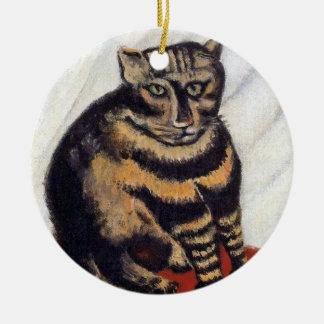 Ornement Rond En Céramique Henri Rousseau - le chat de tigre (Le Chat Tigre)