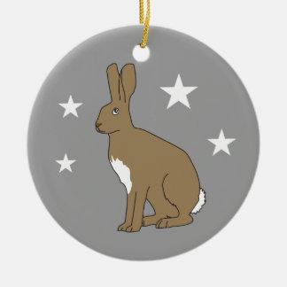 Ornement Rond En Céramique Henry l'ornement de Noël de lapin