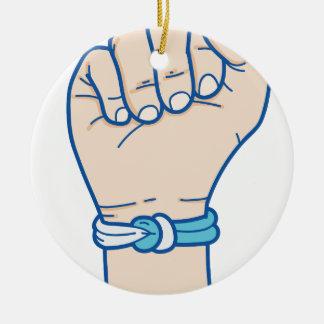 Ornement Rond En Céramique hommes bracelet-01 de cancer