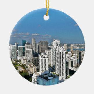 Ornement Rond En Céramique Horizon de Miami la Floride