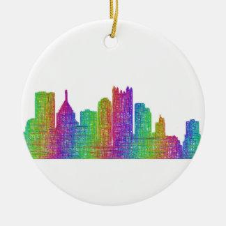 Ornement Rond En Céramique Horizon de Pittsburgh