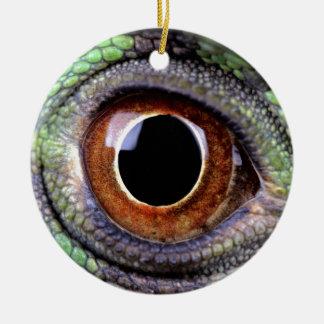 Ornement Rond En Céramique Iguane eye