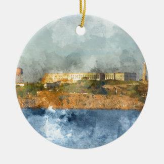 Ornement Rond En Céramique Île d'Alcatraz à San Francisco la Californie