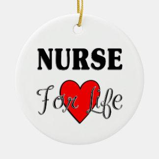 Ornement Rond En Céramique Infirmières RN et LPN