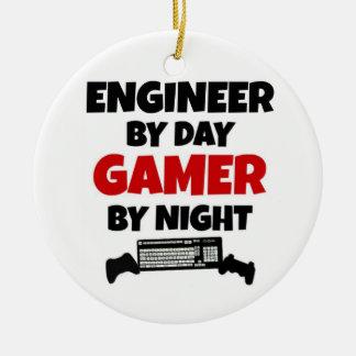 Ornement Rond En Céramique Ingénieur par le Gamer de jour par nuit