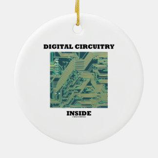 Ornement Rond En Céramique Intérieur de circuits de Digitals (carte)