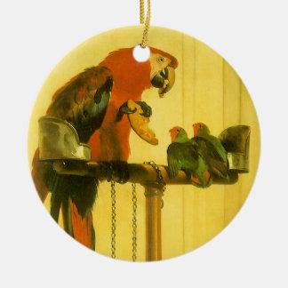 Ornement Rond En Céramique Islay, Tilco, un ara et inséparables par Landseer