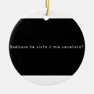 Ornement Rond En Céramique Italien-Chevalier