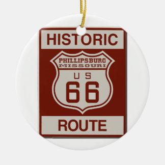 Ornement Rond En Céramique Itinéraire 66 de Philipsburg