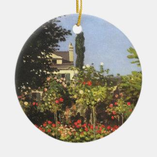 Ornement Rond En Céramique Jardin fleurissant chez Sainte Adresse par Claude