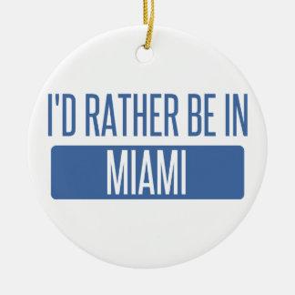 Ornement Rond En Céramique Je serais plutôt à Miami