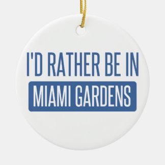 Ornement Rond En Céramique Je serais plutôt dans des jardins de Miami