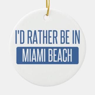 Ornement Rond En Céramique Je serais plutôt dans Miami Beach
