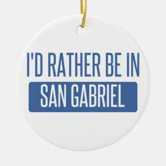 Ornement Rond En Céramique Je serais plutôt dans San Gabriel
