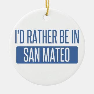 Ornement Rond En Céramique Je serais plutôt dans San Mateo