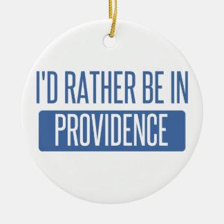 Ornement Rond En Céramique Je serais plutôt en Providence