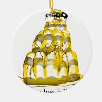 Ornement Rond En Céramique jello élégant d'abeille du miel des fernandes