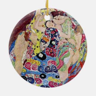 Ornement Rond En Céramique Jeune fille (Vierge), Gustav Klimt, art vintage