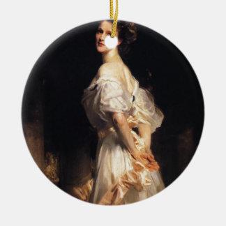 Ornement Rond En Céramique John Singer Sargent - Nancy Astor - beaux-arts