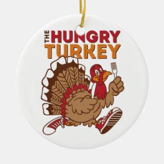 Ornement Rond En Céramique jour de dinde de thanksgiving