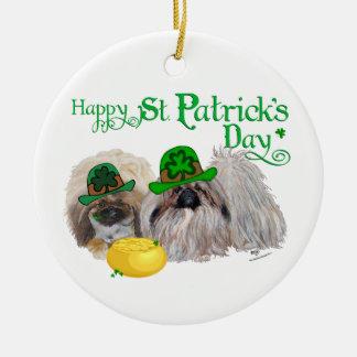 Ornement Rond En Céramique Jour de la Saint Patrick heureux