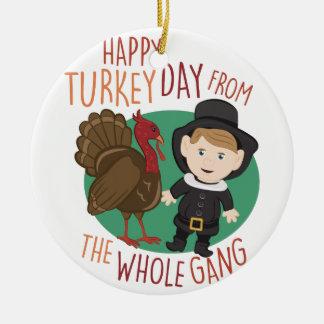 Ornement Rond En Céramique Jour de la Turquie