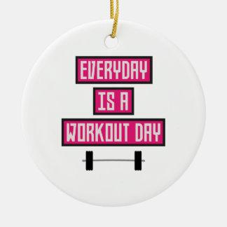 Ornement Rond En Céramique Jour quotidien Z52c3 de séance d'entraînement