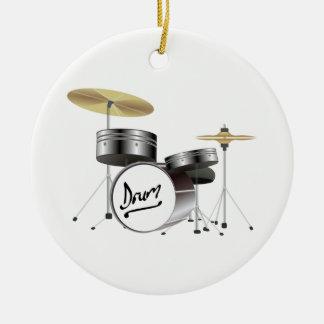 Ornement Rond En Céramique Kit de tambour