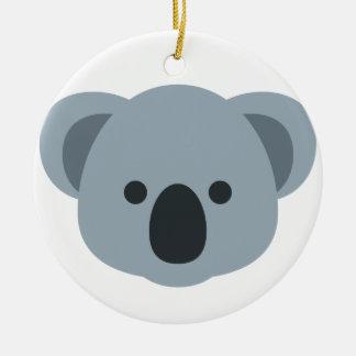 Ornement Rond En Céramique Koala emoji